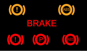 BRAKE SYSTEM WARNING LIGHT IS ON.