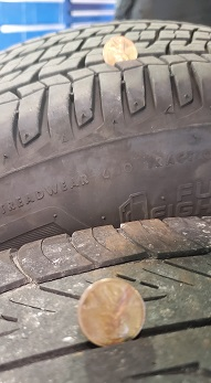 When to replace tires.