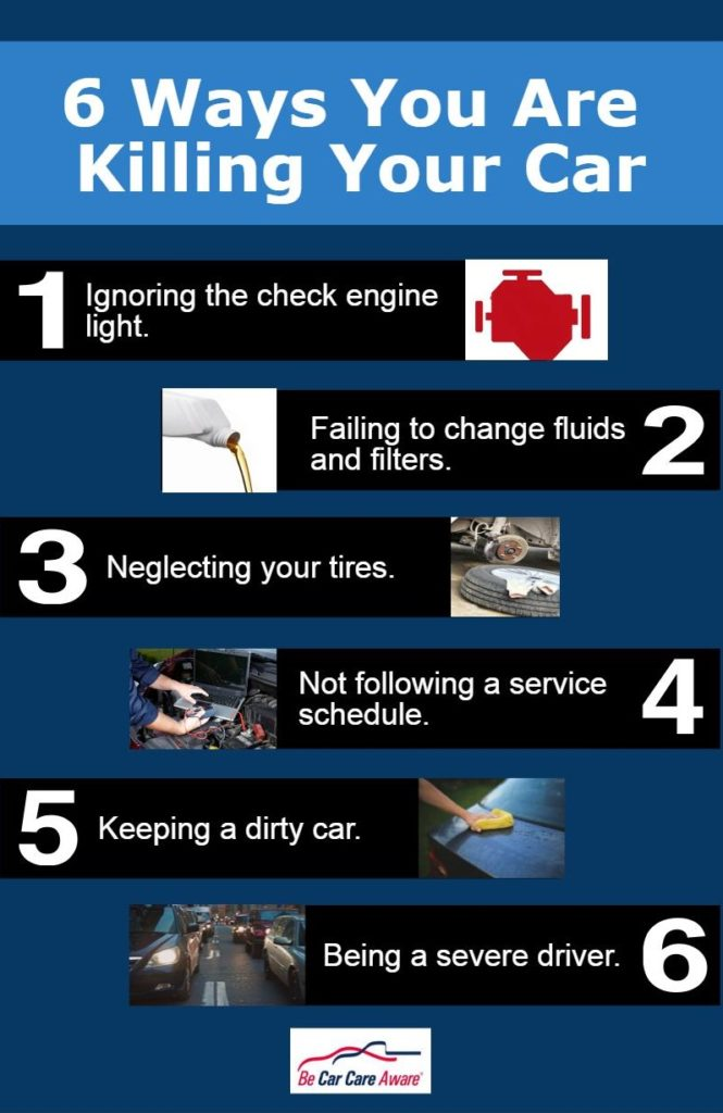 6 Ways you are killing your car.