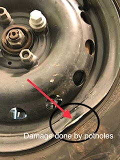 Summer Blog on Pothole damage.